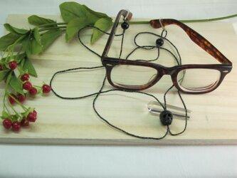 髑髏眼鏡シルクホルダー/黒オニキス入の画像