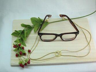 イエロー瑪瑙眼鏡ラメ入シルクホルダー 六色レインボーの画像