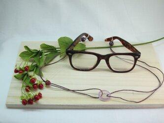 パープル瑪瑙眼鏡ラメ入シルクホルダー 六色レインボーの画像