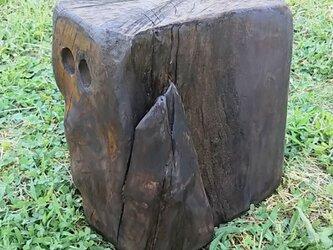 切り株流木チェアfの画像