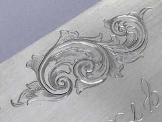 彫金 文字彫り 模様彫り 金属 彫刻 唐草 アラベスク スクロール engraving scrollの画像