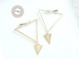 イヤリング[三角形▽HOOP/GOLD]の画像