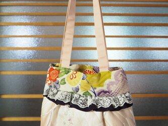 帯と着物の生地で作ったバッグの画像