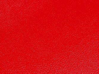《U様専用》牛革型押しラウンドジップロングウォレット スリム レッドの画像