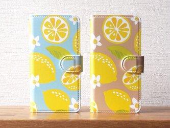 レモンの手帳型スマホケースの画像