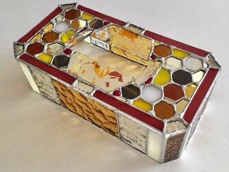 ガラス製ティッシュカバー ゴールデンハニー by ベイビューの画像
