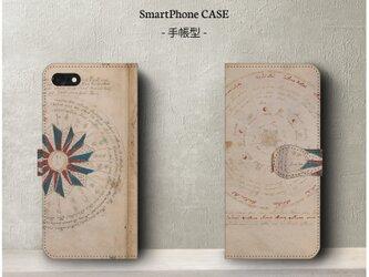 送料無料【ヴォイニッチ手稿C】スマホケース手帳型 iPhoneⅩ Galaxy S9 S8 全機種対応 絵画の画像