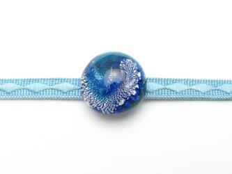 ガラスの帯留め(obi-18)の画像