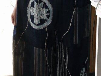 筒がき縦縞木綿からワイドパンツの画像