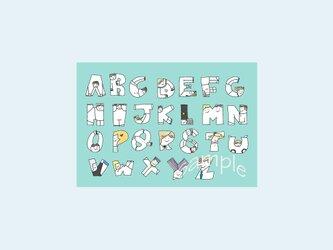 [A¥480] ポストカード¥3枚set :002番 「ABC」の画像