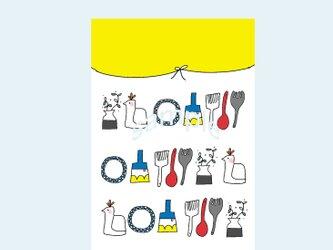 [A¥480] ポストカード¥3枚set :003番 「とりとかばんと」の画像