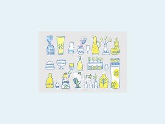 [A¥480] ポストカード¥3枚set :006番 「花瓶」の画像