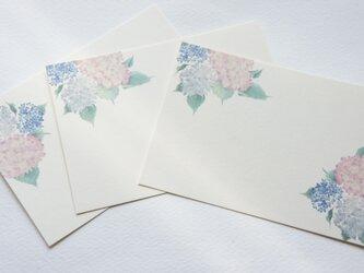 メッセージカード【雨降り紫陽花】の画像