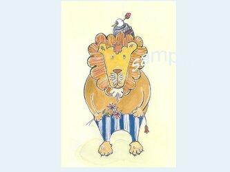 [A¥480] ポストカード¥3枚set :014番 「ライオンと鳥」の画像