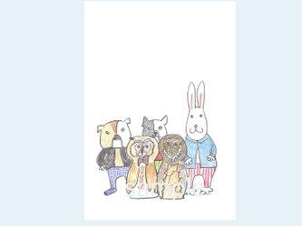 [A¥480] ポストカード¥3枚set :015番 「しゅうごう〜」の画像