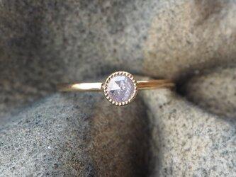ミディアムピンクダイヤモンドリングの画像