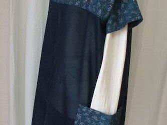 絹 紗と銘仙からのチュニックの画像