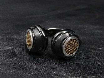 ヘッドフォンリング−ブラックゴールドメッシュ−の画像