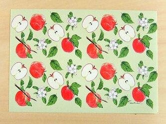 りんごのラッピングペーパーの画像