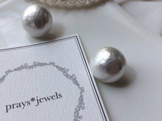 ペーパーマッシェ magnet pierced・earringsノンホールピアスの画像