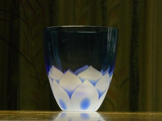 蓮の花 タンブラー  青(1個)の画像