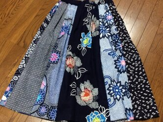 ☆浴衣のタック入りロングスカートの画像