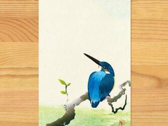 ポストカードU-【かわせみ】2枚セットの画像