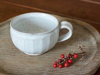ティーカップ(白/面)の画像
