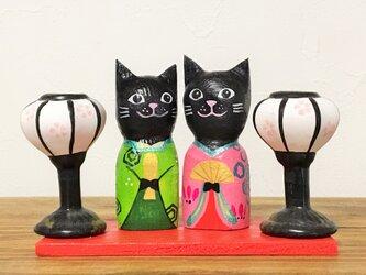 猫雛人形 黒猫の画像