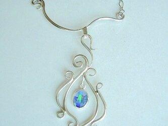 モザイクオパール のネックレスの画像