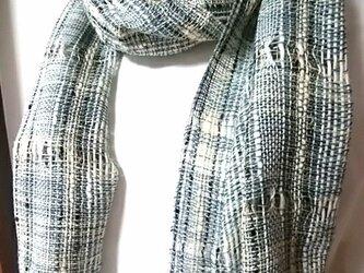 爽やかな手織りストールno.3の画像