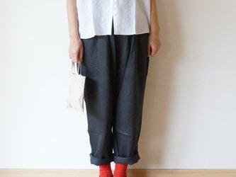 Linen chino pants LADY'S BLACKの画像