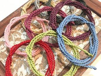 全63色・マクラメ編みネックレス紐【スタンダード】受注生産で受付中!の画像