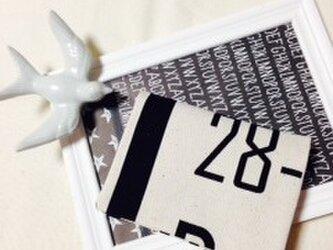 オトナのティッシュケースor移動ポケット 英字×数字 キナリの画像