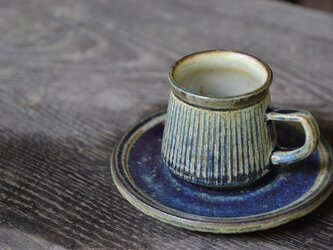 エスプレッソカップ 青 (デミタスカップ)の画像