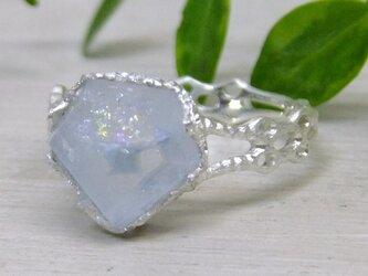 aquamarine*925 lace ringの画像