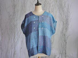 手織り 春夏カーディガンジャケットの画像