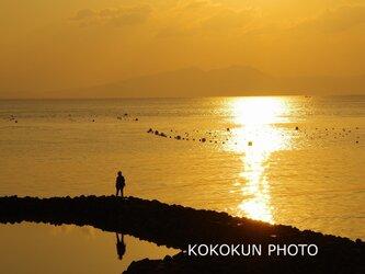 有明海の朝の風景「ポストカード5枚セット」の画像