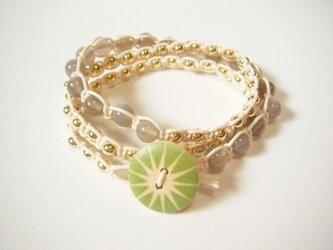 wrap bracelet (green sun)の画像