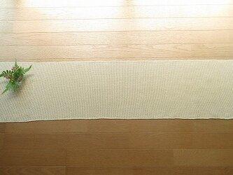 生成り木綿の手織りテーブルランナー 155cm(2)の画像