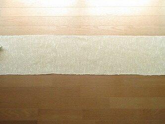 生成り木綿の手織りテーブルランナー 173cm(5)の画像