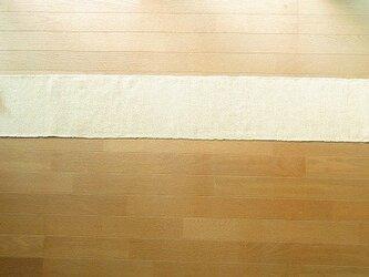 木綿糸と麻糸の手織りテーブルランナー 202cm(7)の画像