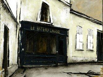 風景画 パリ 油絵「洗濯船/PARIS」の画像