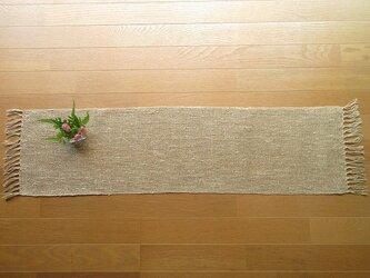 リネンの手織りテーブルセンター 98cm(10)の画像