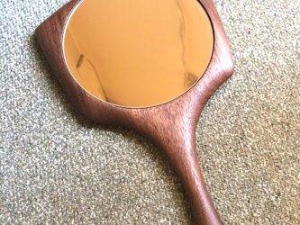 手鏡 <ウォールナット>の画像