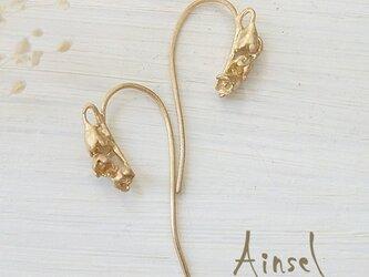 すずらんピアス(gold)の画像