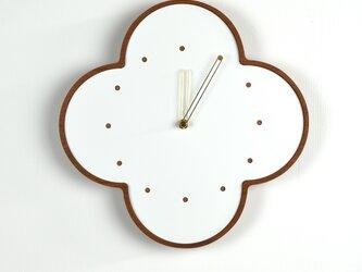 マホガニーの壁掛け時計 大 白 φ300mmの画像