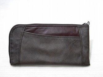 ハーフラウンド型 長財布(ブラウンエンボス)の画像