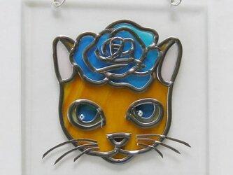 壁飾り オレンジ猫の画像