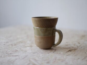 マグカップ / 木の蓋付き No.30の画像